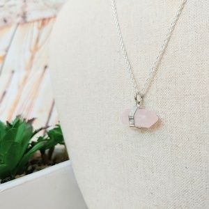 Jewelry - Rose Quartz Crystal Silver Plated Nickel Free